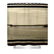Silance Bridge Shower Curtain