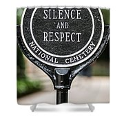 Silence And Respect Shower Curtain by Steve Gadomski
