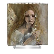 Silence Shower Curtain by Dorina  Costras