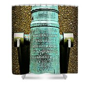 Silenced -- Surrendered British Cannon Shower Curtain