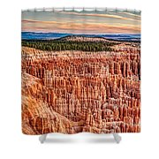 Silent City @ Sunrise Shower Curtain