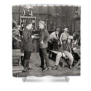 Silent Film Still: Cowboys Shower Curtain