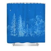 Silent Night  Holy Night Shower Curtain
