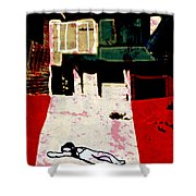 silent place Nr.5 Shower Curtain