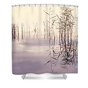 Silent Rhapsody. Sacred Music Shower Curtain by Jenny Rainbow