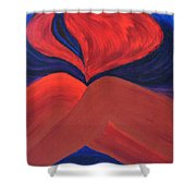 Silent She Emerges Shower Curtain by Daina White