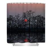 Silent Sun Shower Curtain