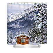 Silent Winter Shower Curtain