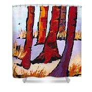 Silent Woods Shower Curtain