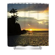 Siletz Bay Sunset Oregon 1 Shower Curtain