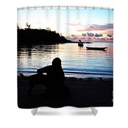 Silhouette At Sunrise Shower Curtain