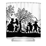 Silhouette Family Life Shower Curtain
