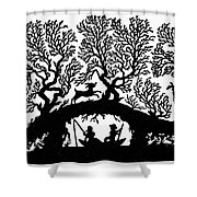 Silhouette Fishing Shower Curtain