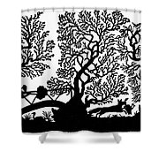 Silhouette Hunting Shower Curtain
