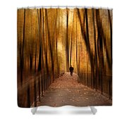 Silhouette In Solitude Shower Curtain