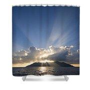 Silhouette Island Shower Curtain