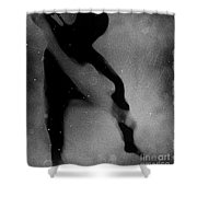 Silhouette Of An Oddity Shower Curtain