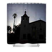 Silhouette Of Mission Santa Clara Shower Curtain