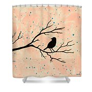 Silhouette Pink Shower Curtain