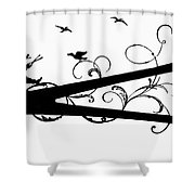Silhouette Scissors Shower Curtain