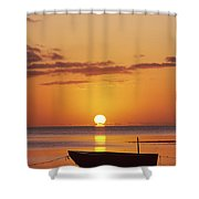 Silhouetted Boat Shower Curtain