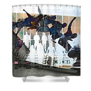 Silhouettes Journey  Shower Curtain