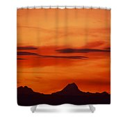 Silhouettes Of Alps Shower Curtain