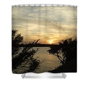Silhouettes Of Sunset Shower Curtain