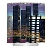 Silicon City Shower Curtain