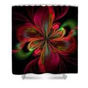 Silk Butterfly Abstract Shower Curtain