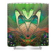 Silk Fan - Abstract  Shower Curtain