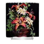 Silk Flowers Shower Curtain by Jeff Burton