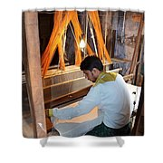 Silk Weaver - Varanasi India Shower Curtain