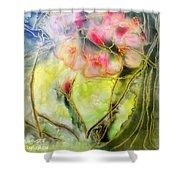 Silky Almond Flower Shower Curtain