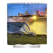 Silky Niagara Falls Panoramic Sunset Shower Curtain