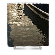 Silky Swirls And Zigzags - A Waterfront Abstract Shower Curtain