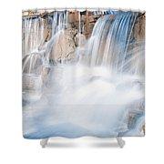 Silky Waterfall Splash Shower Curtain