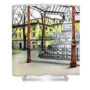 Silla Hotel Piazza Demidoff Florence Shower Curtain
