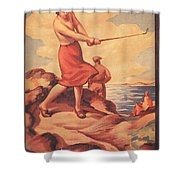 Silloth On The Solway, Advertisement Shower Curtain