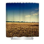 Silo In Wheat Shower Curtain