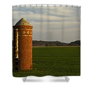 Silo Old Brick 3 Shower Curtain