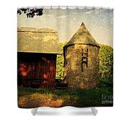 Silo Red Barn Shower Curtain