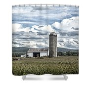 Silo Sky Shower Curtain