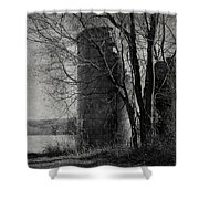 Silos - Black And White Shower Curtain