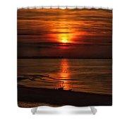 Silouhette In Sunset  Shower Curtain