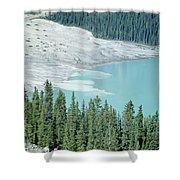 1m3531-silt Entering Peyto Lake Shower Curtain