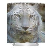 Silver-7963-fractal Shower Curtain
