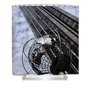 Silver And Blue Planet Earth Shower Curtain