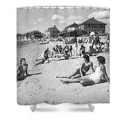 Silver Beach On Cape Cod Shower Curtain