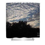 Silver Clouds Shower Curtain